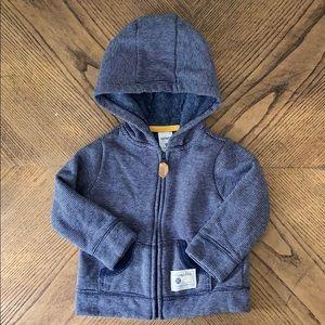 NWOT Carter's Baby Boy Heavy Zip-Up Hoodie